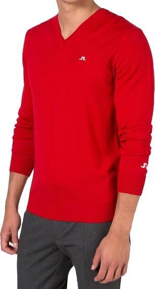 J.Lindeberg Lymann True Merino pánský svetr, červený pánské, S