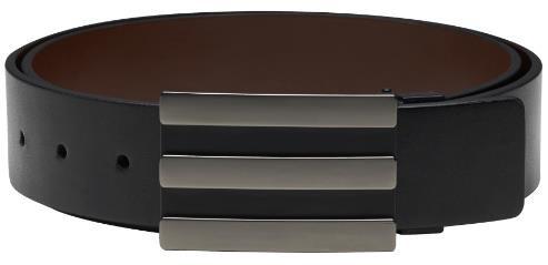 Adidas 3-Stripes Reversible pánský opasek, černo/hnědý