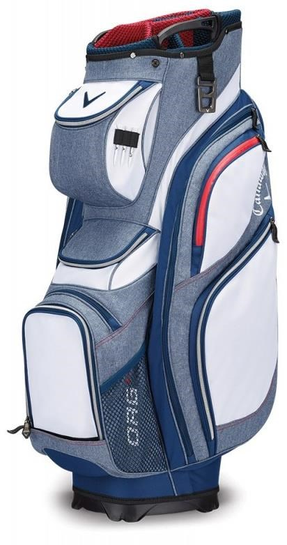 Callaway ORG 14 cart bag, bílo/modro/červený