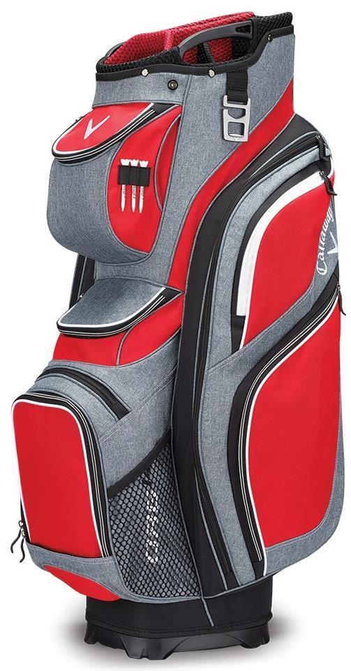 Callaway ORG 14 cart bag, červeno/černo/bílý