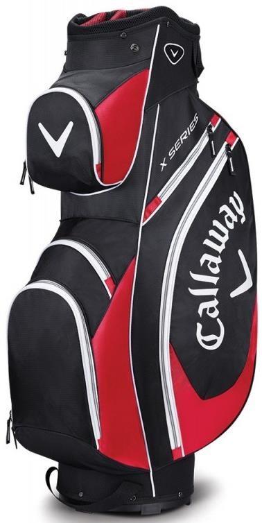 Callaway X Series cart bag, černo/červeno/bílý