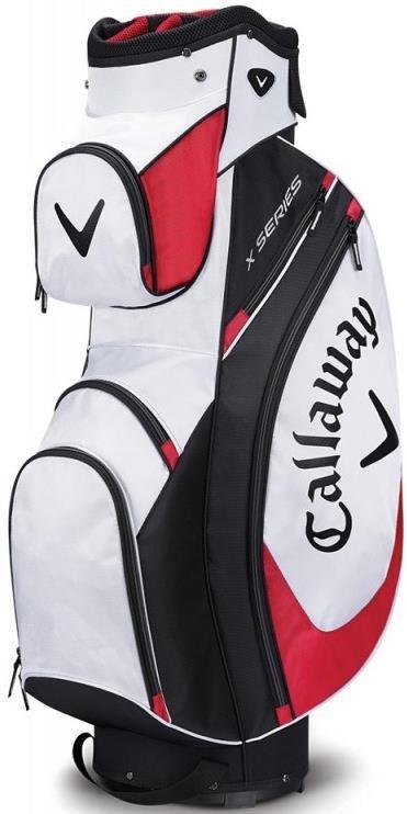 Callaway X Series cart bag, bílo/černo/červený
