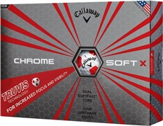 Callaway Chrome Soft X Truvis Red golfové míče