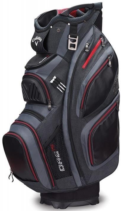 Callaway ORG 15 cart bag, černo/šedo/červený