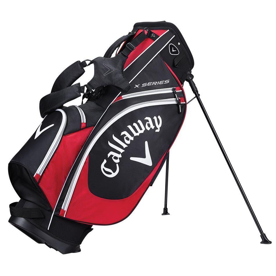 Callaway X Series stand bag, černo/červený