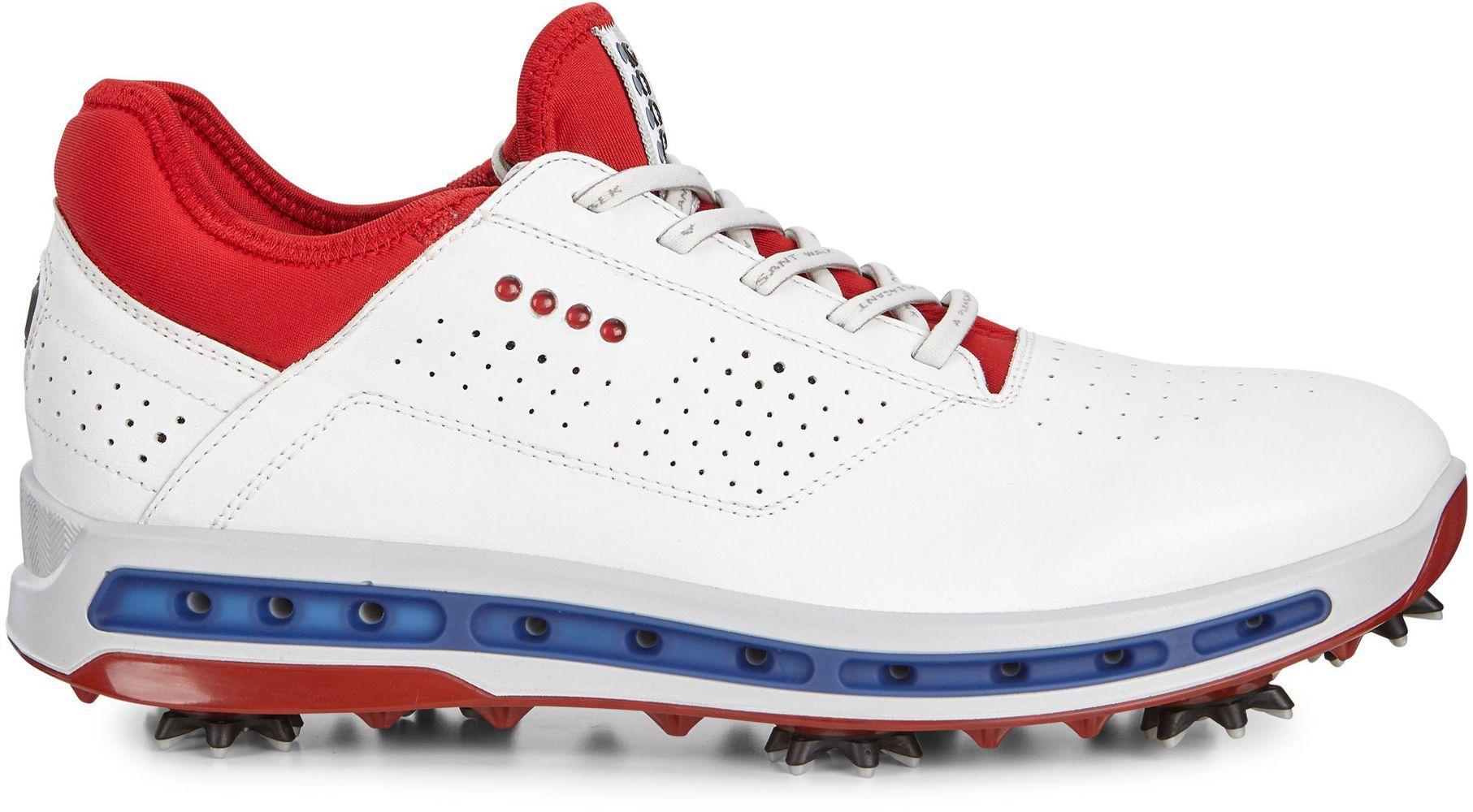 Ecco Golf Cool Gore-Tex pánské golfové boty, bílo/červené bílá, standardní, 7,5