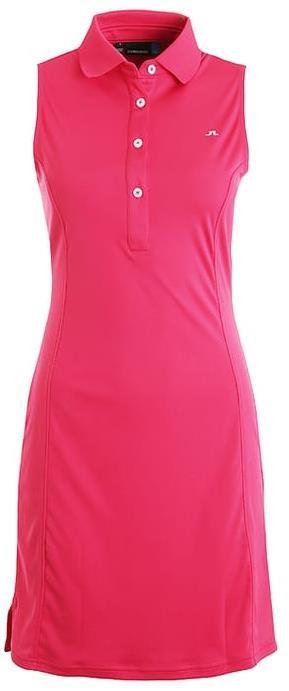 J.Lindeberg Louise TX Jersey dámské šaty, růžové M
