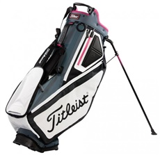 Titleist Players 5 stand bag, šedo/bílo/růžový