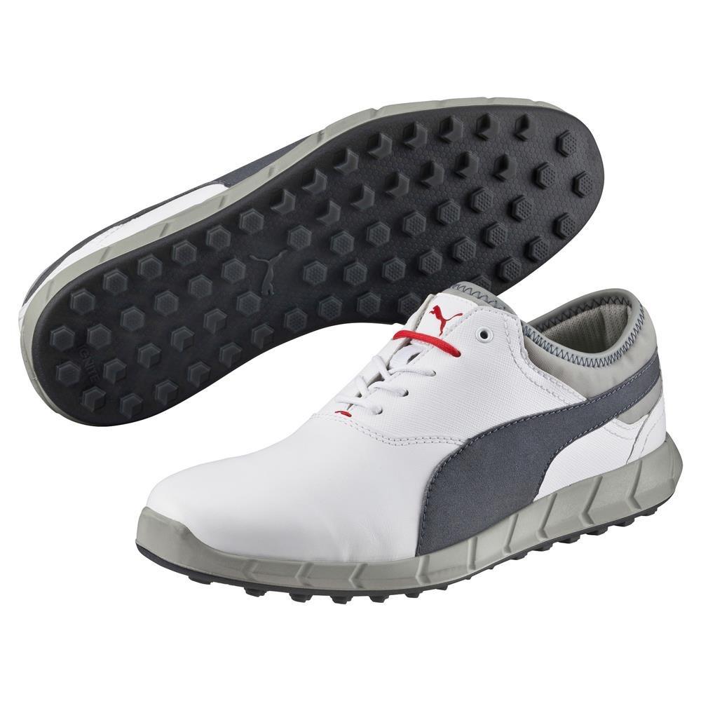 Puma Ignite Spikeless pánské golfové boty, bílo/šedé bílá, 7,5