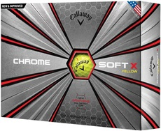Callaway Chrome Soft X Yellow golfové míče 2018