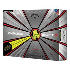 Callaway Chrome Soft X Truvis Yellow/Black golfové míče