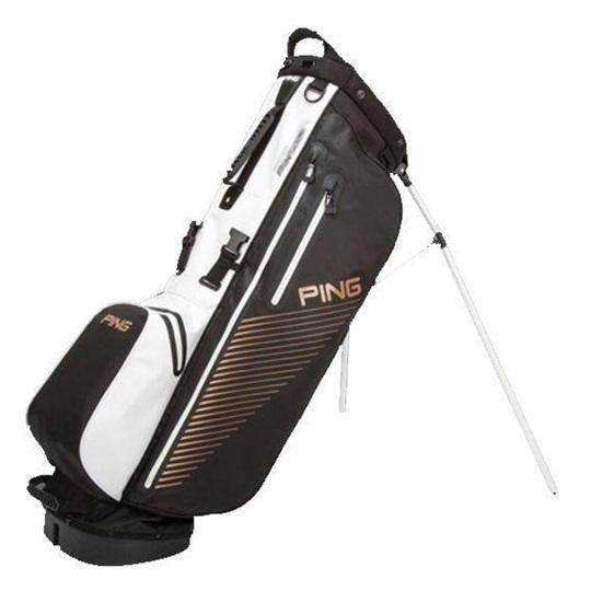 Ping Hoofer Waterproof Stand Bag černo Bílo Bronzový
