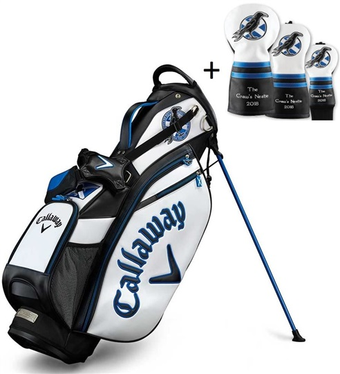 Callaway British Open stand bag + 3 kryty hlav