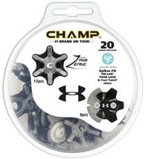 Champ Zarma Tour Under Armour golfové spajky, Slim-Lok, 20ks